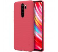 Пластиковый чехол NILLKIN Frosted Shield для Xiaomi Redmi Note 8 Pro - Красный