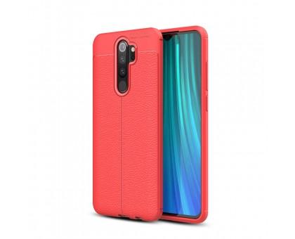 Защитный чехол Leather Cover для Xiaomi Redmi Note 8 Pro - Красный