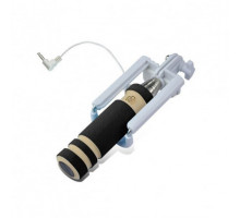 Мини монопод для селфи (Шнур (кабель) 3,5) (13.8см - 48см)