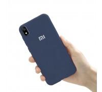 Чехол на Xiaomi Redmi 7A (original Soft Tach ) - синий