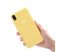 Чехол на Xiaomi Redmi 7A (original Soft Tach ) - желтый
