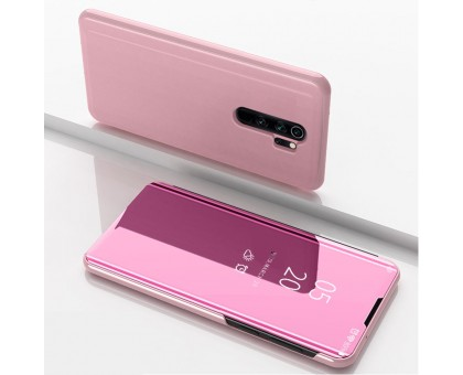 Чехол-книжка Mirror Case для Xiaomi Redmi Note 8 Pro - Розовый
