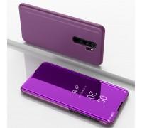 Чехол-книжка Mirror Case для Xiaomi Redmi Note 8 Pro - Малиновый